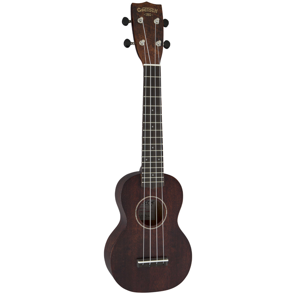 Gretsch G9100-L Soprano Long Neck Ukulele with Gig Bag - Vintage Mahogany Stain - Walt Grace Vintage