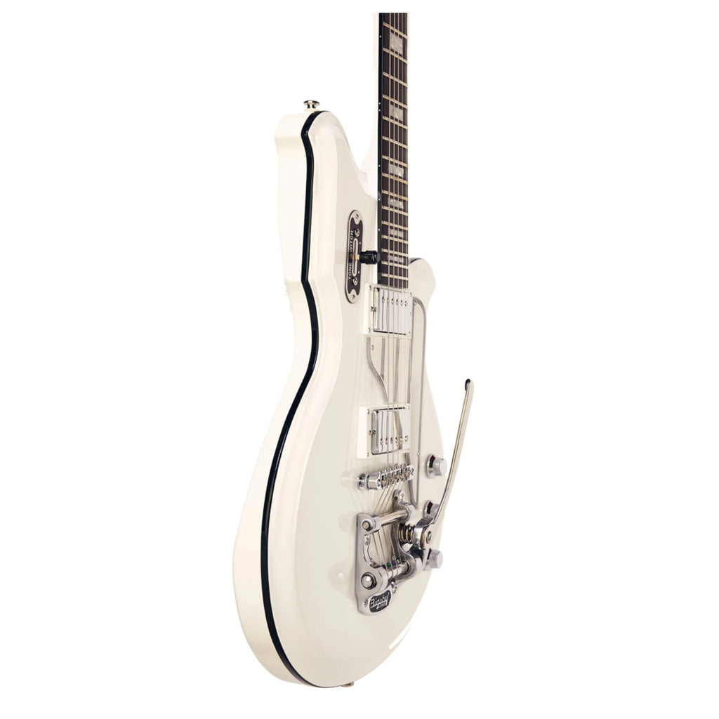 Airline Map DLX Electric Guitar - White - Walt Grace Vintage