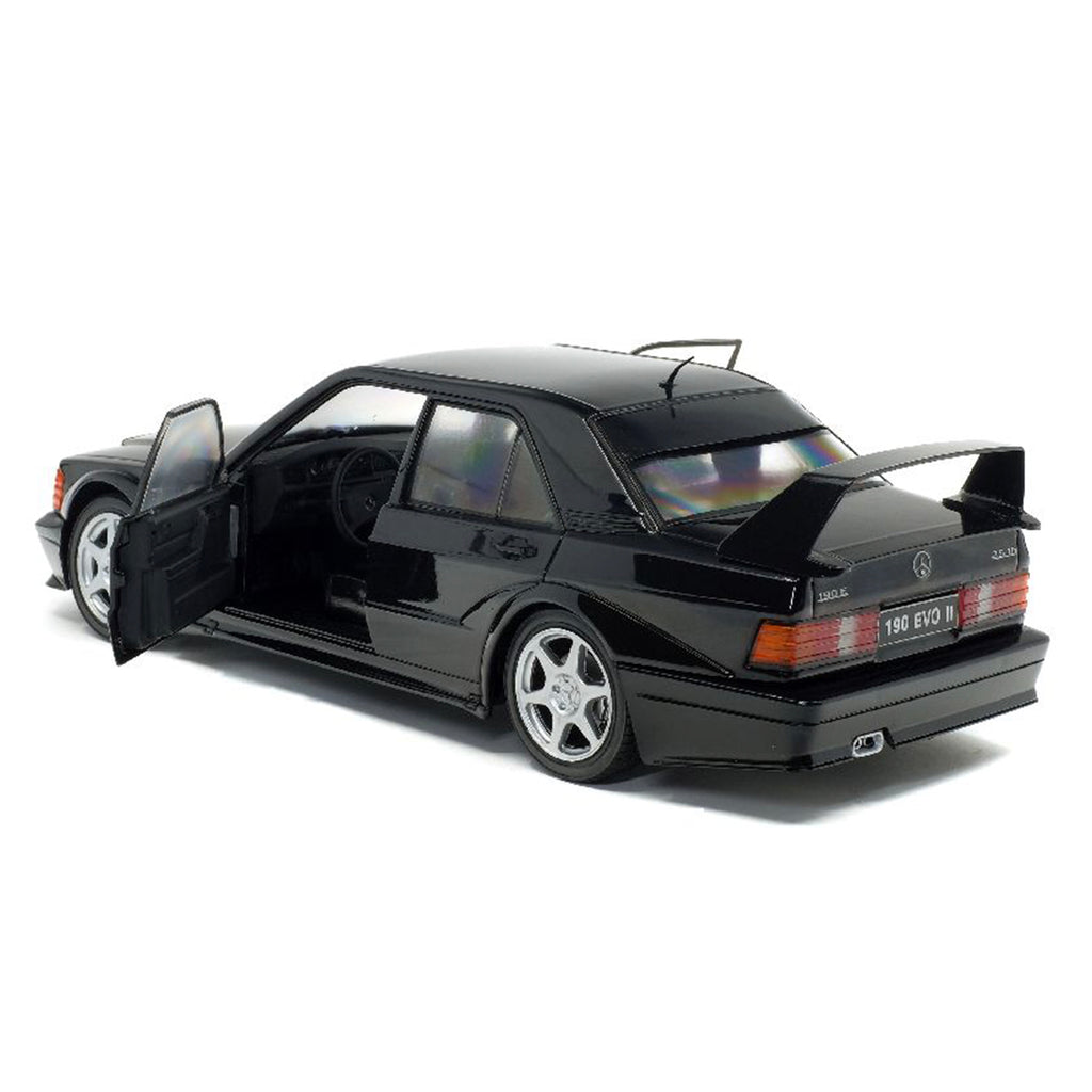 Solido Mercedes-Benz 190E EVOLUTION II 1:18 Scale Model - Black - Walt Grace Vintage
