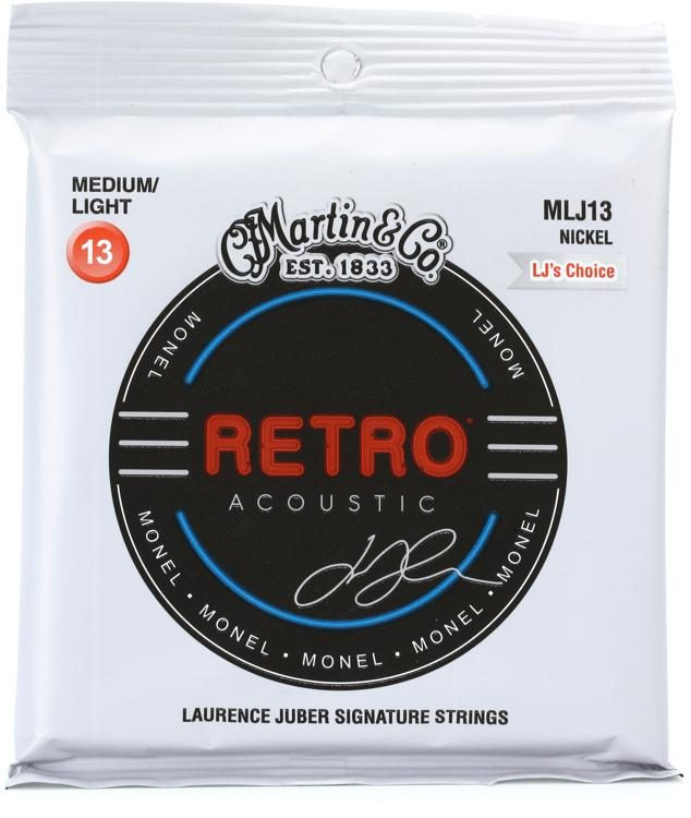 Martin MLJ13 Retro Acoustic Guitar Strings - .013-.056 LJ's Choice - Walt Grace Vintage