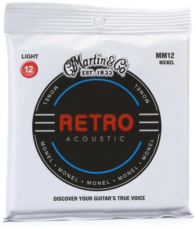 Martin MM12 Retro Acoustic Guitar Strings - Light 12's - Walt Grace Vintage