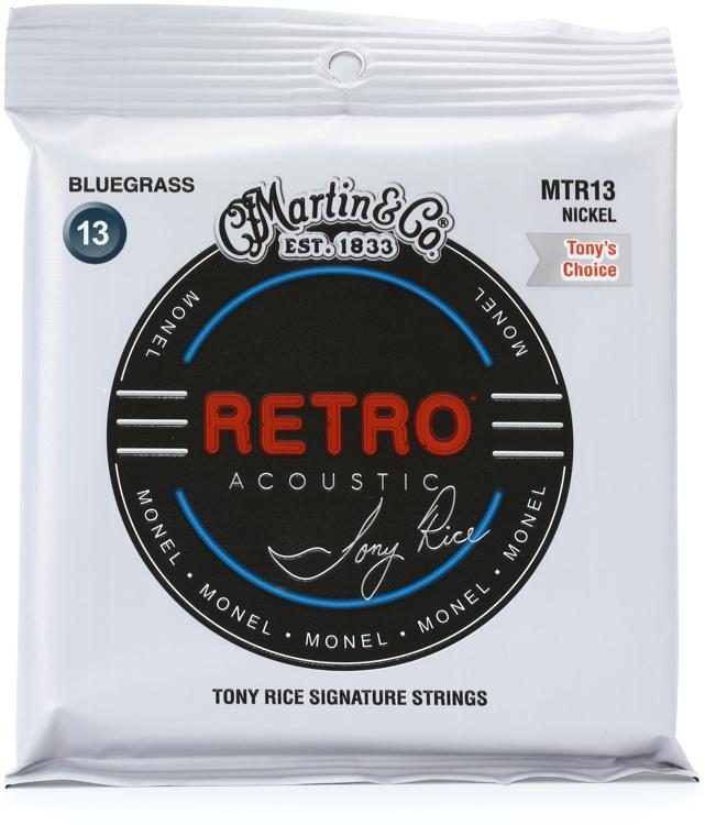 Martin MTR13 Retro Acoustic Guitar Strings - .013-.056 Tony Rice Bluegrass - Walt Grace Vintage