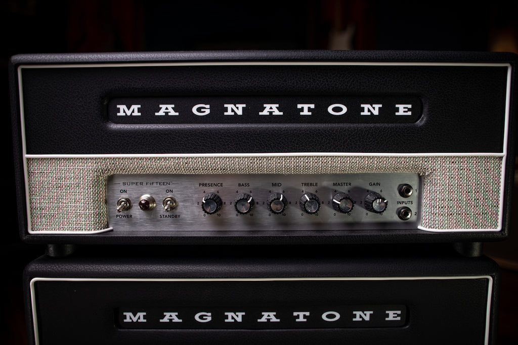 Magnatone Super Fifteen Tube Head Amp - Black - Walt Grace Vintage