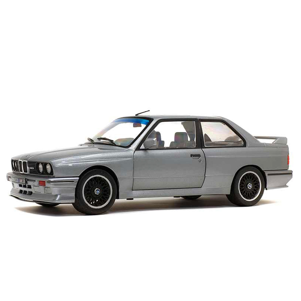 Solido 1990 BMW E30 M3 1:18 Scale Model - Silver Metallic - Walt Grace Vintage
