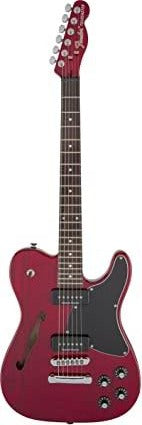Fender Jim Adkins JA-90 Telecaster Thinline Electric Guitar - Crimson Red Transparent