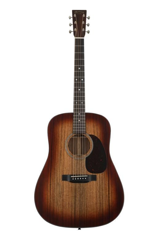 Martin D-16E Burst Dreadnaught Acoustic Electric Guitar - Mahogany Burst