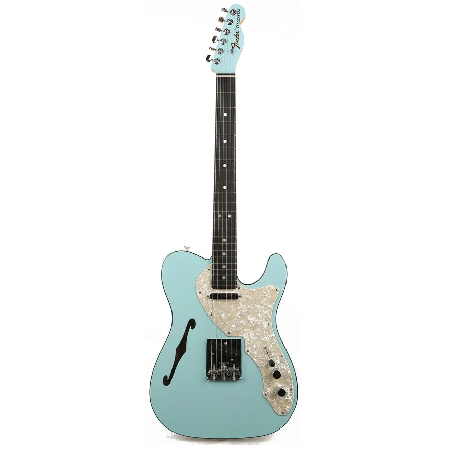 Fender Thinline Telecaster Limited Edition Electric Guitar - 2-Tone Daphne Blue
