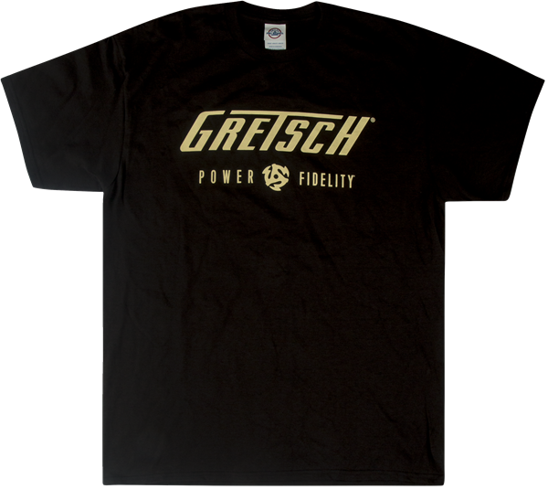 Gretsch Power Fidelity T-Shirt - Black - Walt Grace Vintage