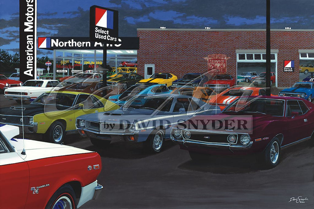 """American Muscle Car"" Limited Edition Print - Walt Grace Vintage"