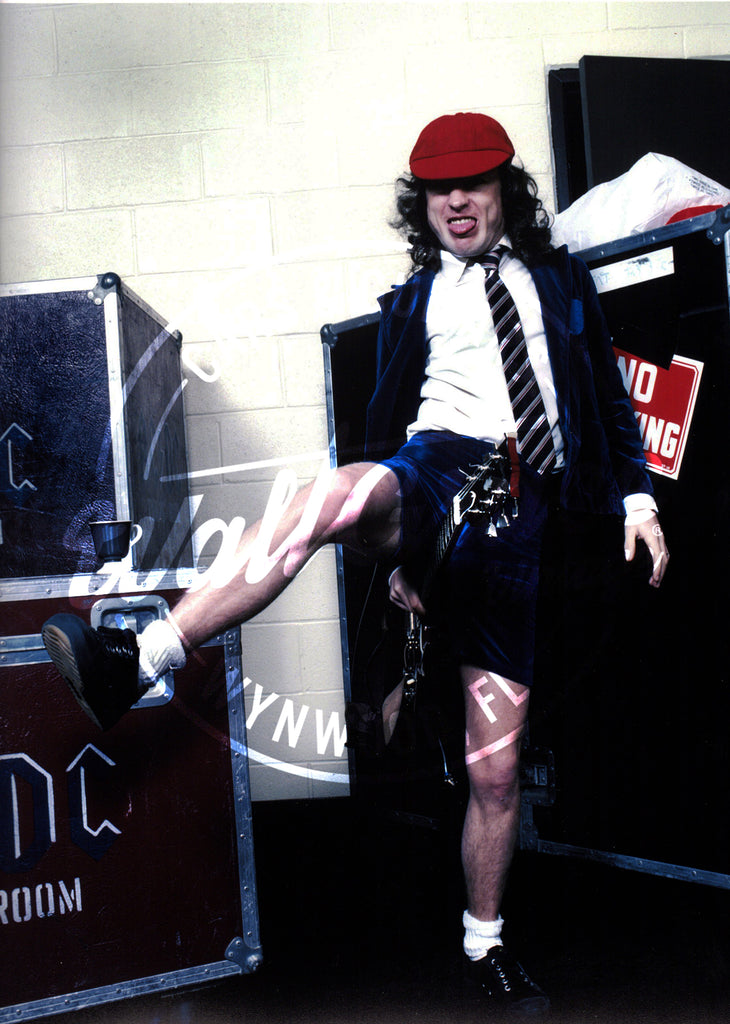 Mark Weiss: Angus Young 1984: Signed Print - Walt Grace Vintage