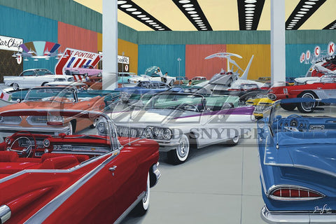 """Auto Show 1959"" Limited Edition Print"