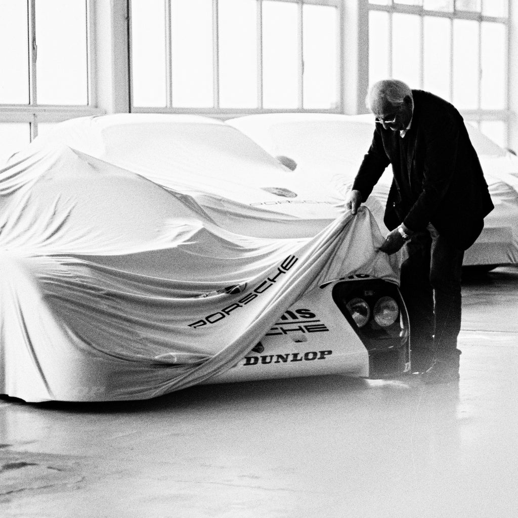 Bart Kuykens Automotive Print - Unveiling the 962 - Walt Grace Vintage