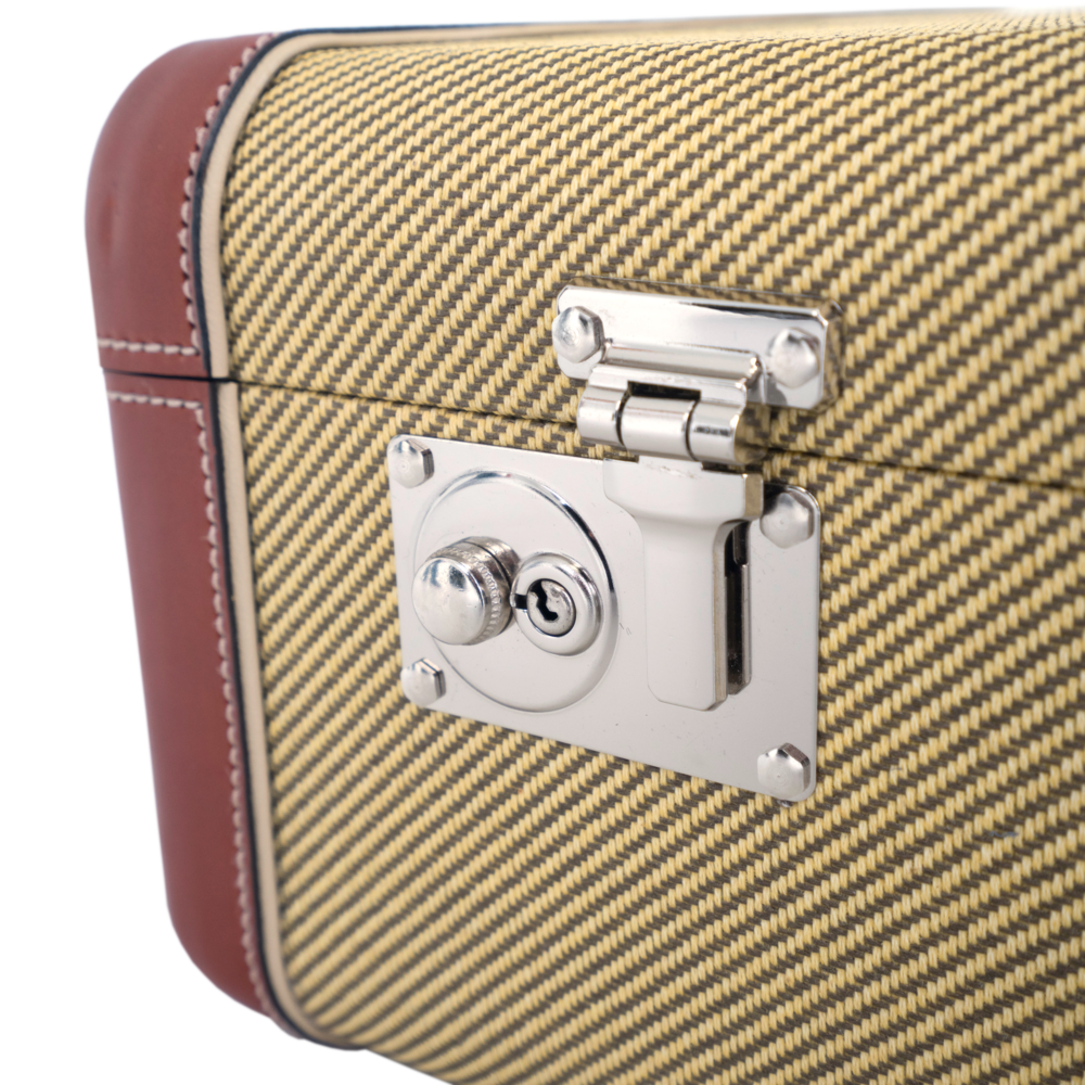 The Laurence Kenyon Suitcase in Vintage Tweed - Walt Grace Vintage