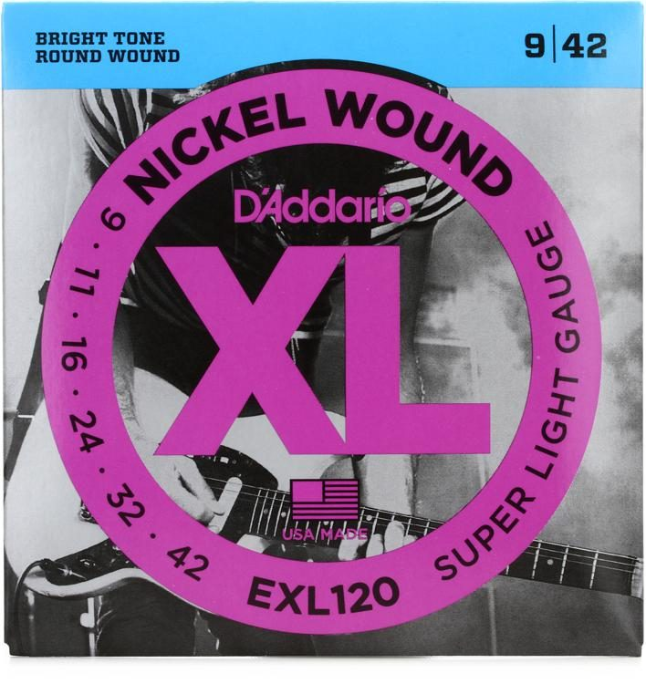 D'Addario EXL120 Nickel Wound 9-42 Electric Strings