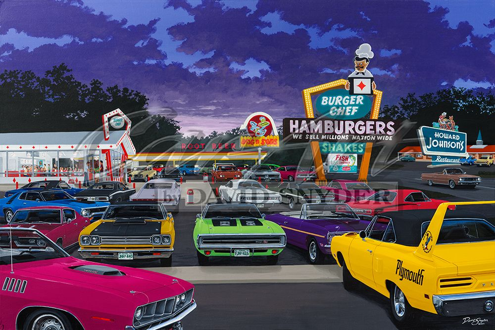 """Eating and Sleeping Mopar"" Limited Edition Print - Walt Grace Vintage"