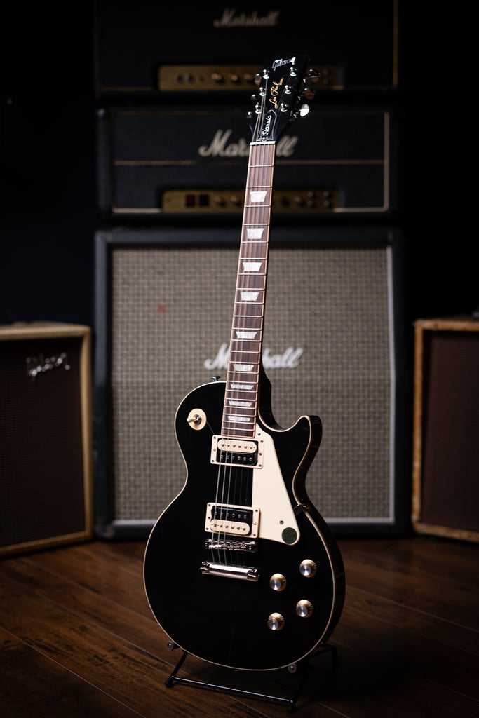 Gibson Les Paul Classic Electric Guitar - Ebony - Walt Grace Vintage