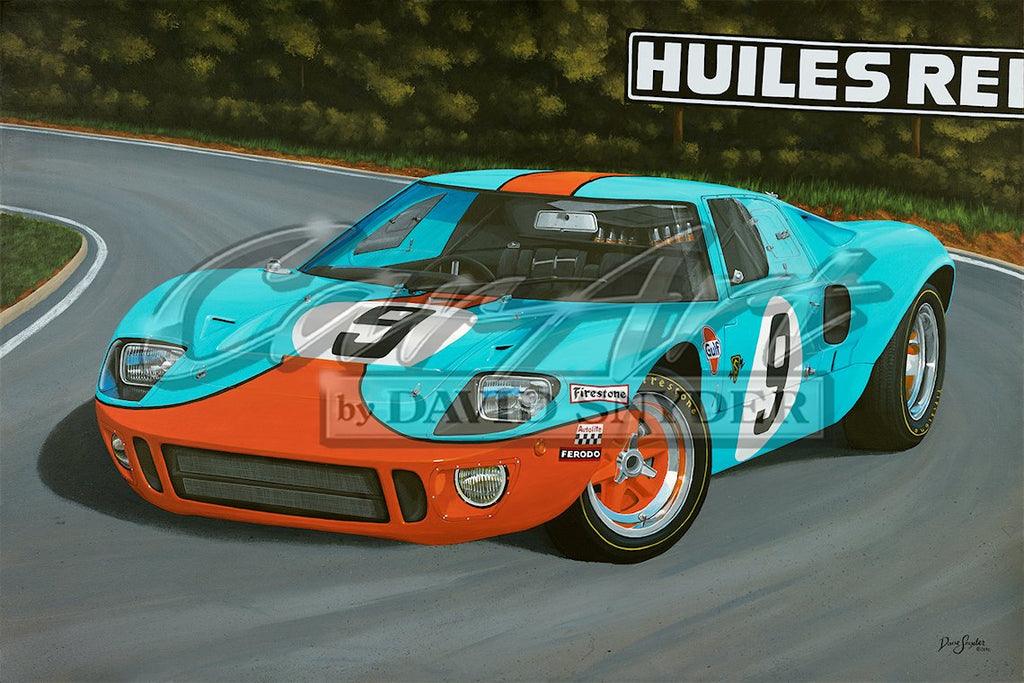 """GT40 1075"" Limited Edition Print - Walt Grace Vintage"