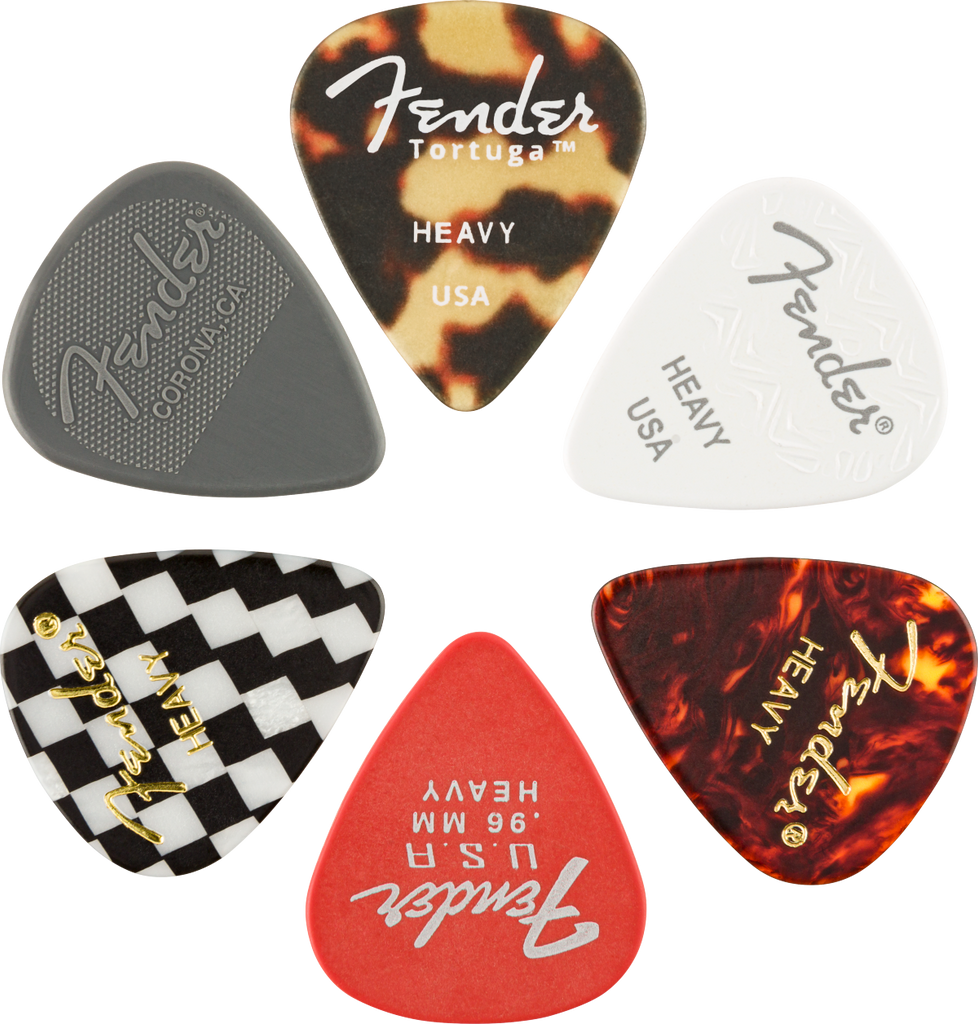 Fender Material Medley 351 Shape Picks - 6 Pack - Walt Grace Vintage