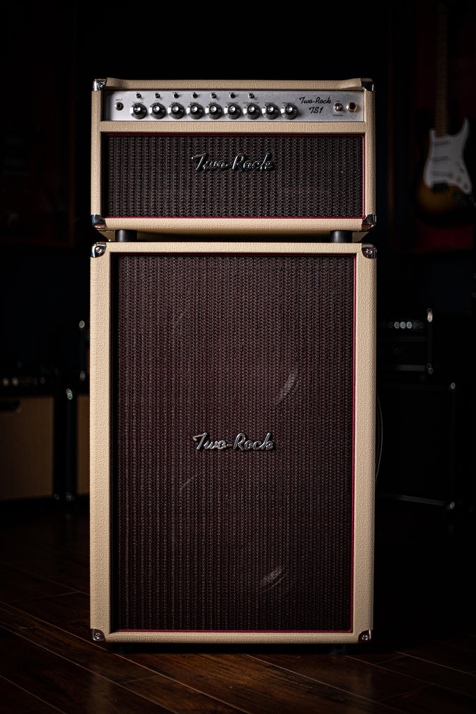 Two-Rock TS1 100 Watt Tube Head - Silver Anodize, Blond Tolex, Oxblood Grill Cloth, Silver Skirt Knobs - Walt Grace Vintage