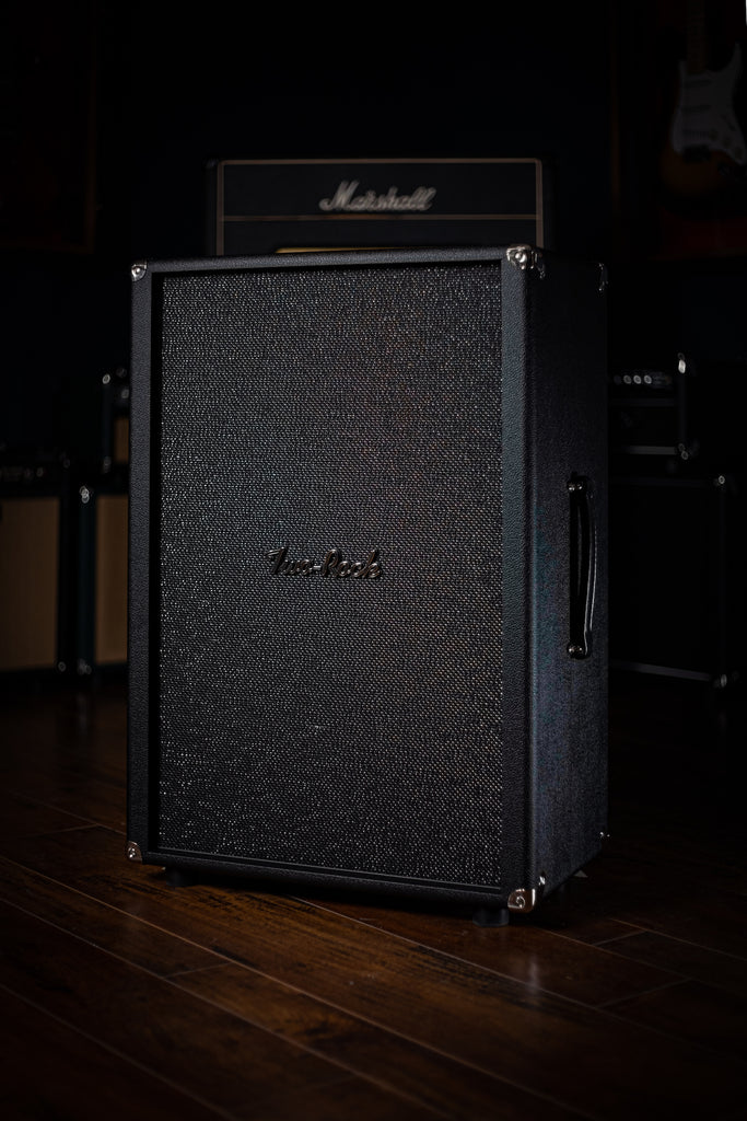 Two-Rock 12-65B 2x12 Extension Cabinet - Black Bronco, Sparkle Matrix Grill Cloth - Walt Grace Vintage