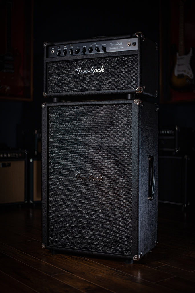 Two-Rock Tradition Clean 100/50 Watt Tube Head - Black Bronco Tolex, Sparkle Matrix Grill Cloth, Black Pipping - Walt Grace Vintage