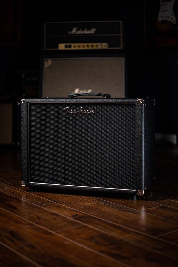 Two-Rock 12-65B 1x12 Extension Cabinet Open Back - Black Bronco Tolex, Black Matrix Grill - Walt Grace Vintage