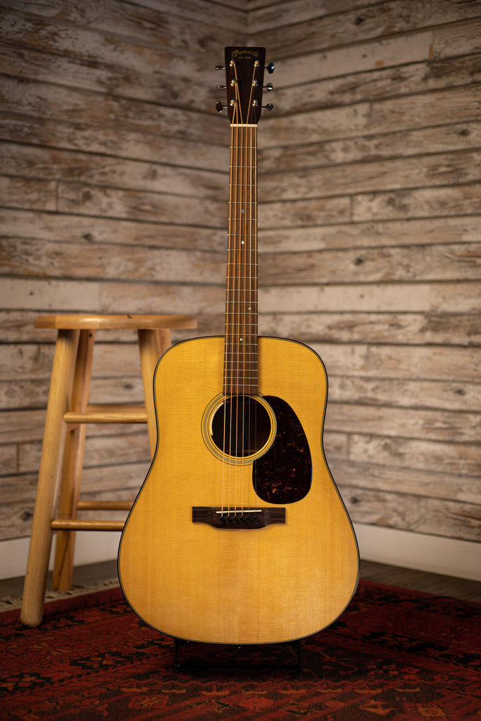 Martin D-18E Acoustic Electric Guitar with LR Baggs Anthem Electronics - Natural