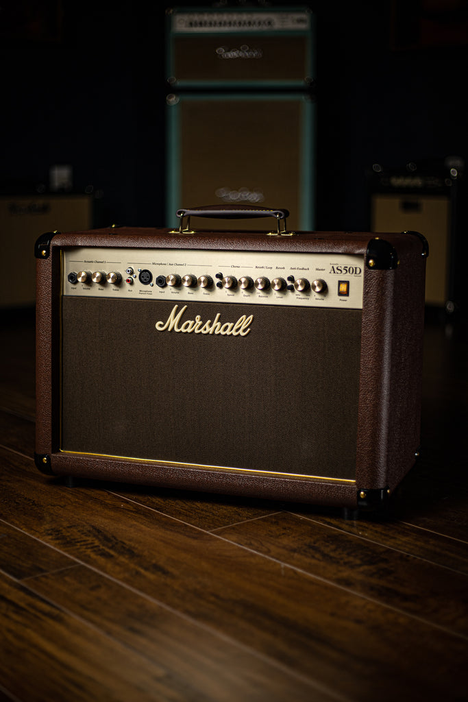 "Marshall AS50D 50 watt 2x8"" 2 Channel Acoustic Combo Amp"
