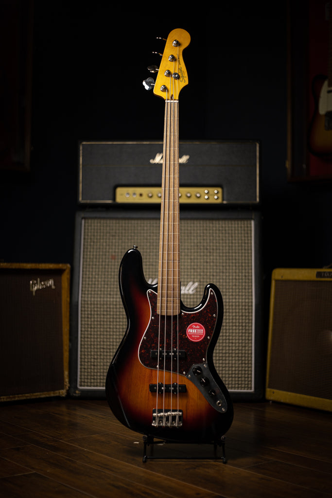 Squier Classic Vibe '60s Jazz Bass® Fretless  - 3 Color Sunburst