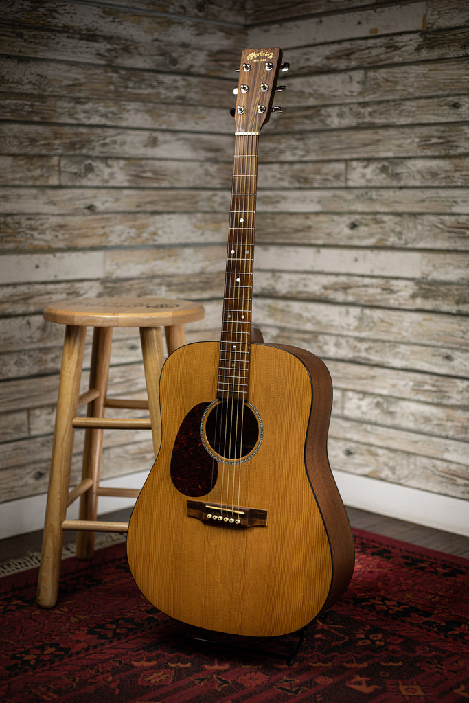 2003 Martin DM Mahogany Left Handed Acoustic Guitar - Natural