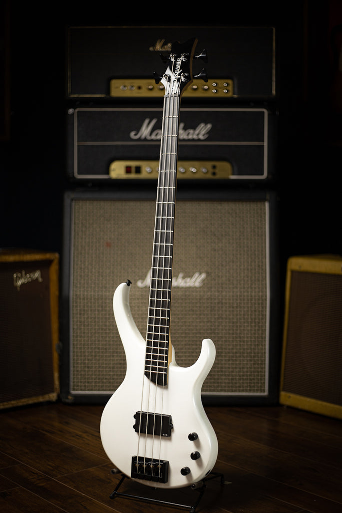 Kramer D-1 Disciple Electric Bass with Active Electronics - Pearl White