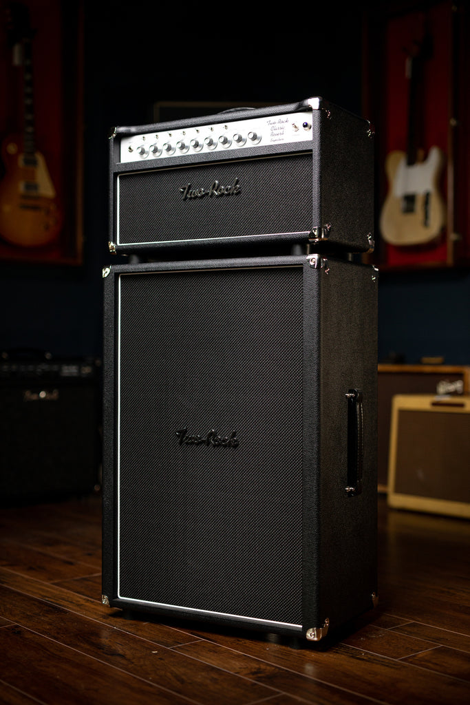 Two-Rock Classic Reverb 100 Watt Head - Black, Silver Anodize, Black Matrix Grill, Silver Knobs - Walt Grace Vintage