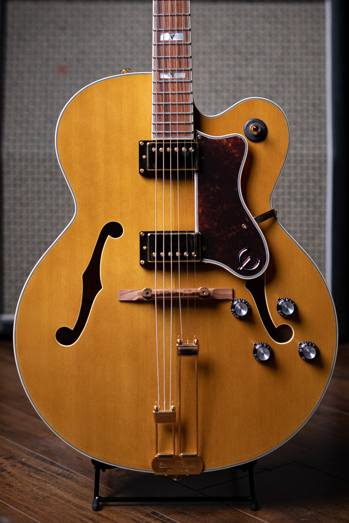 Epiphone Broadway Hollowbody Electric Guitar - Vintage Natural - Walt Grace Vintage
