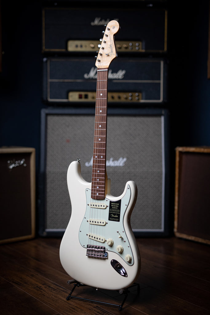 Fender American Original '60s Stratocaster Electric Guitar - Olympic White - Walt Grace Vintage