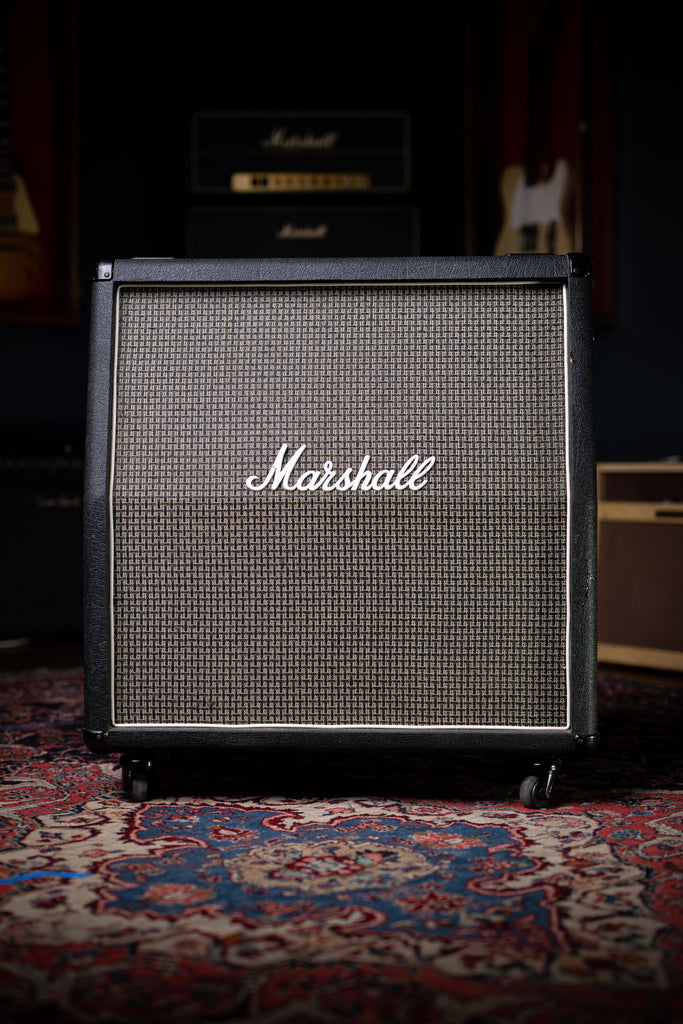 1980 Marshall 1960A Basketweave Extension Cabinet - Black - Walt Grace Vintage