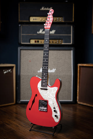Fender Thinline Telecaster Limited Edition Electric Guitar - 2-Tone Fiesta Red