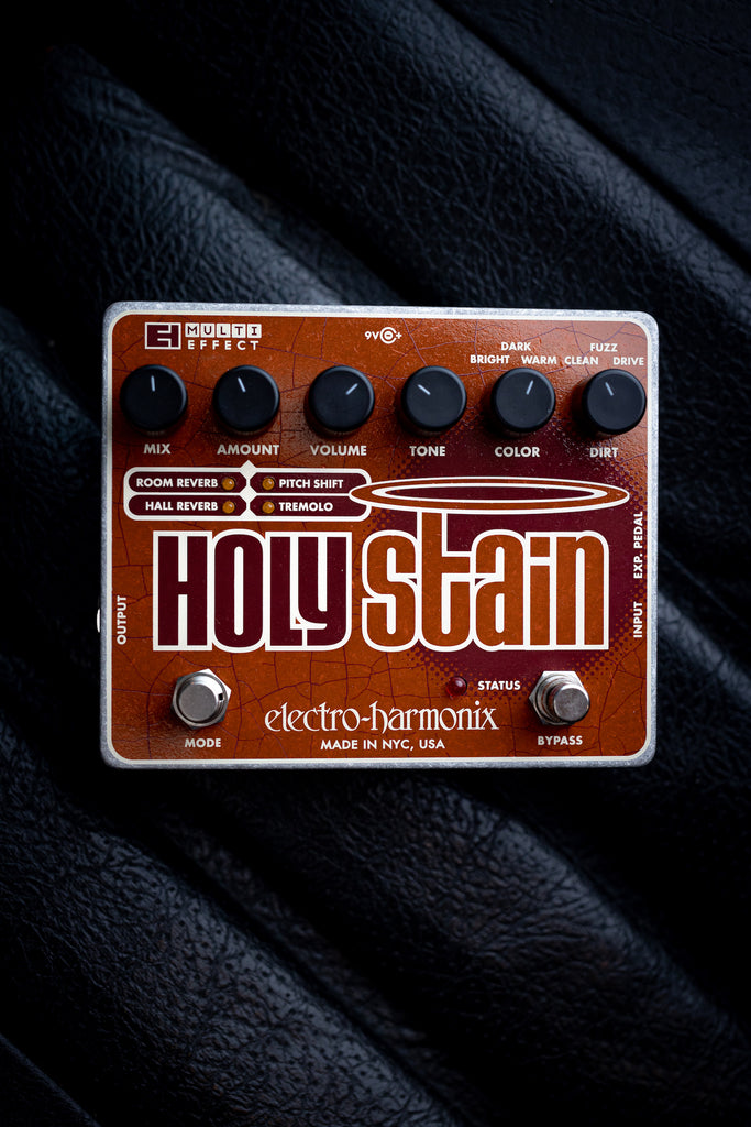 Electro-Harmonix Holy Stain Distortion Reverb Pitch Tremolo Multi-effects Pedal - Walt Grace Vintage