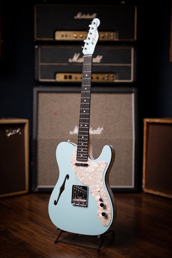 Fender Thinline Telecaster Limited Edition Electric Guitar - 2-Tone Daphne Blue - Walt Grace Vintage