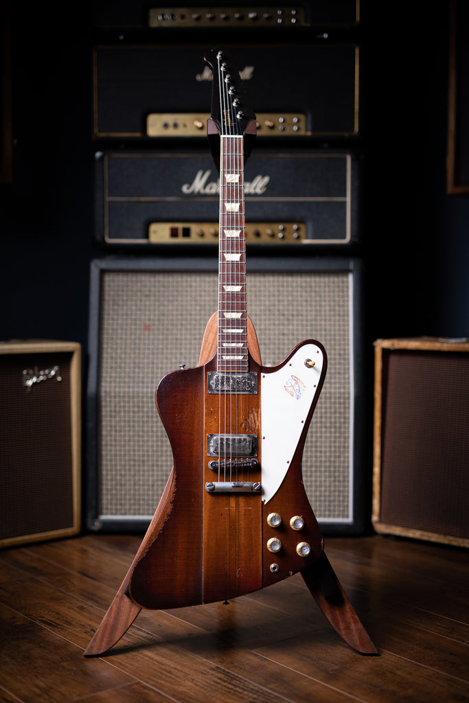 2009 Gibson Custom Shop Signature Johnny Winter '63 Firebird V Aged Electric Guitar - Vintage Sunburst - Walt Grace Vintage