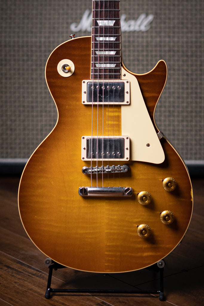 2018 Gibson Custom Shop 1958 Les Paul Reissue R8 Electric Guitar - Lemon Burst - Walt Grace Vintage