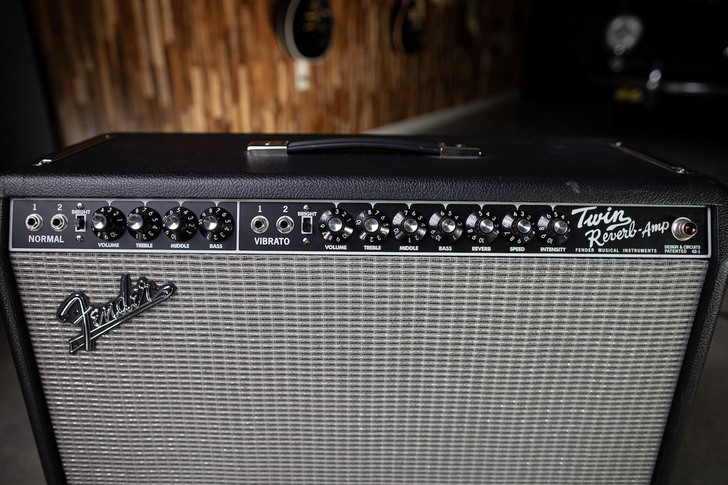 Used Fender Twin Reverb Reissue Combo Amp - Black - Walt Grace Vintage