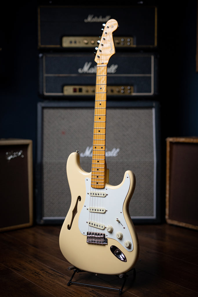 Fender Eric Johnson Signature Thinline Stratocaster Electric Guitar - Vintage White - Walt Grace Vintage