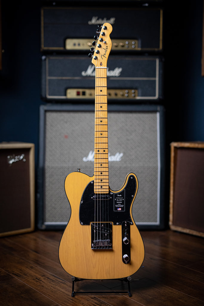Fender American Ultra Telecaster Electric Guitar - Butterscotch Blonde - Walt Grace Vintage