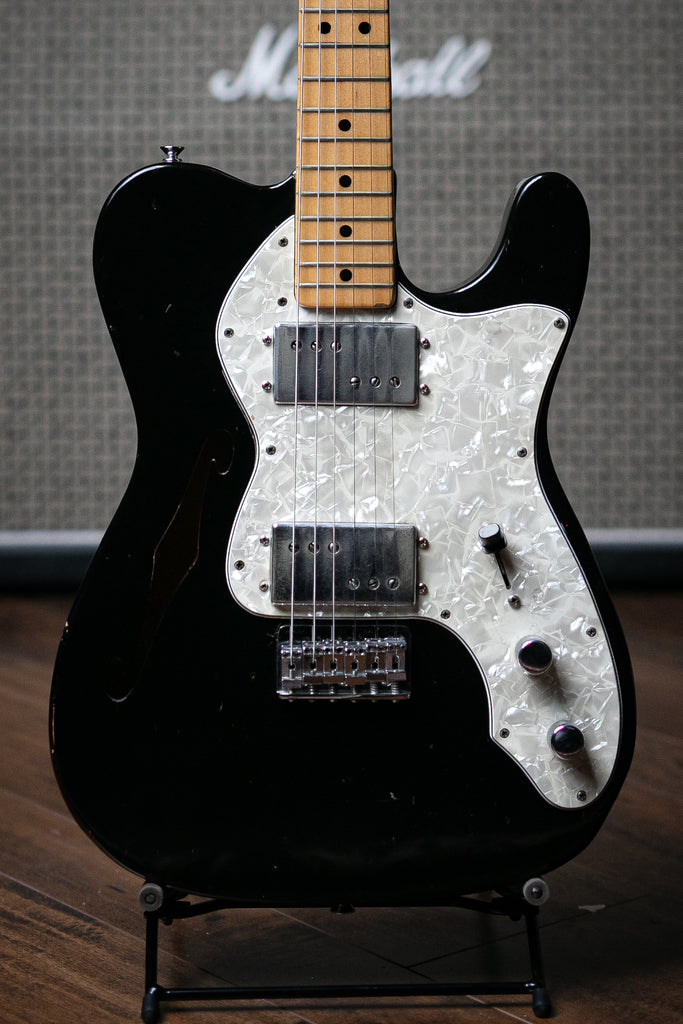 1973 Telecaster Thinline Electric Guitar - Black - Walt Grace Vintage