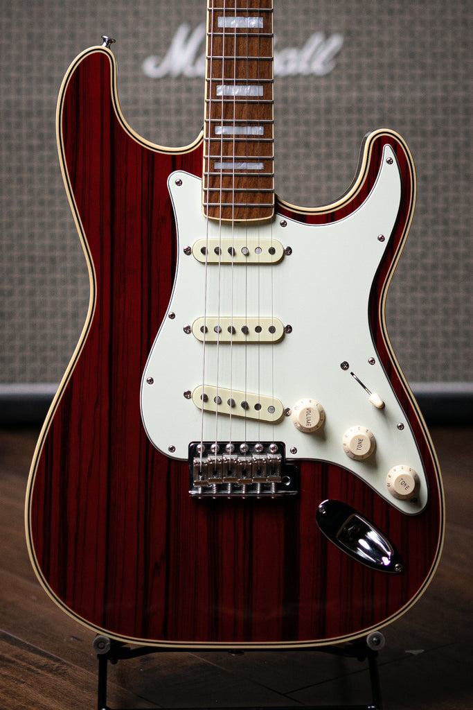 2004 Fender '68 RI MIJ Zebrawood Stratocaster Electric Guitar - Translucent Red - Walt Grace Vintage