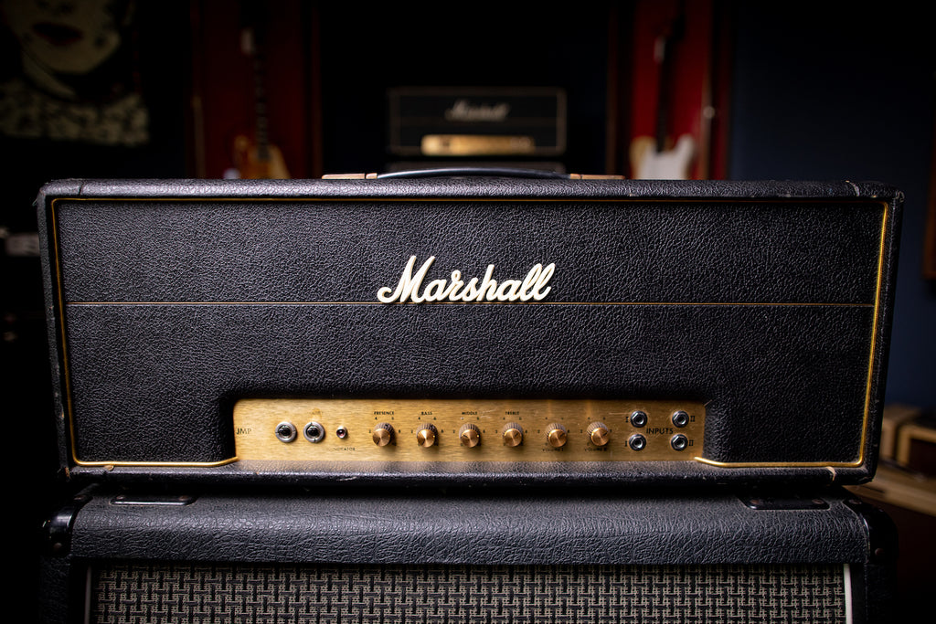 1975 Marshall JMP 100 Tube Head - Black - Walt Grace Vintage
