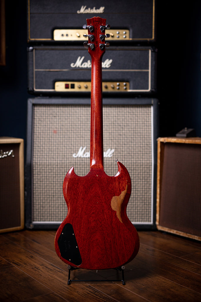 "Gibson Tony Iommi ""Monkey"" 1964 SG Special Replica Right Handed Electric Guitar - Aged Cherry - Walt Grace Vintage"