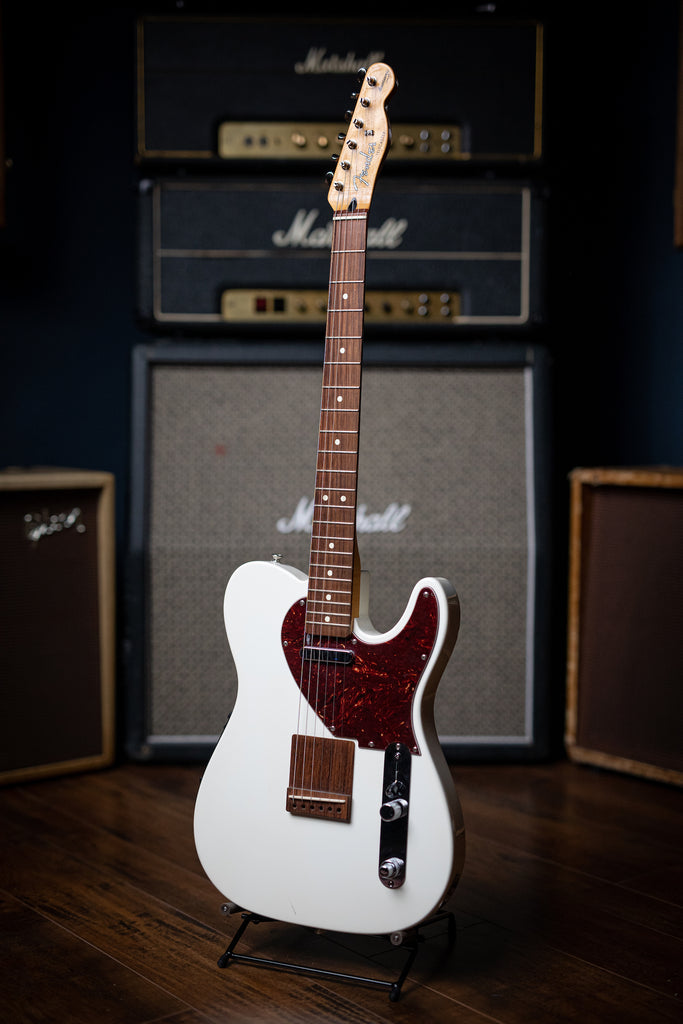2012 Fender Acoustasonic Telecaster Electric-Acoustic Guitar - Olympic White - Walt Grace Vintage