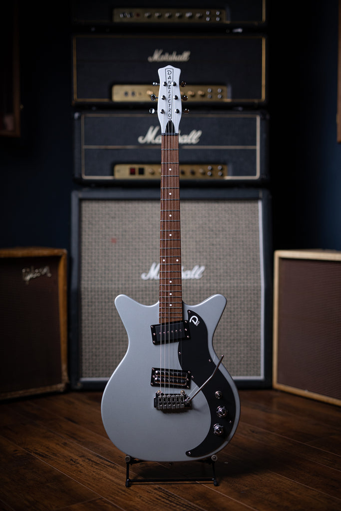 Danelectro '59 XT Electric Guitar - Silver/Black - Walt Grace Vintage