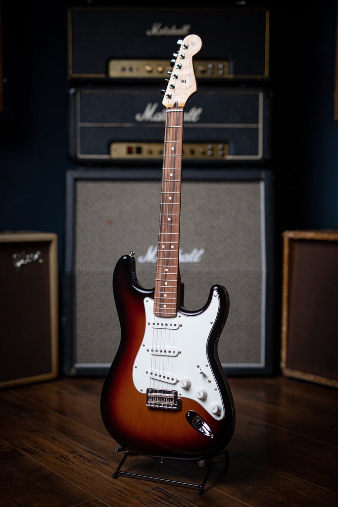 Fender Player Series Stratocaster Electric Guitar - 3-Tone Sunburst - Walt Grace Vintage